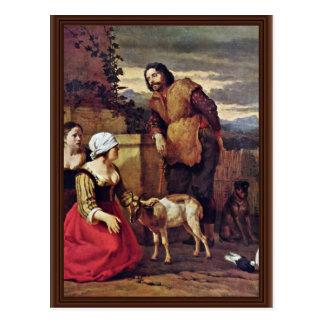 La cabra enferma de Dujardin Karel (la mejor calid Postal