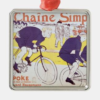 La cadena de Simpson, 1896 Adorno Navideño Cuadrado De Metal