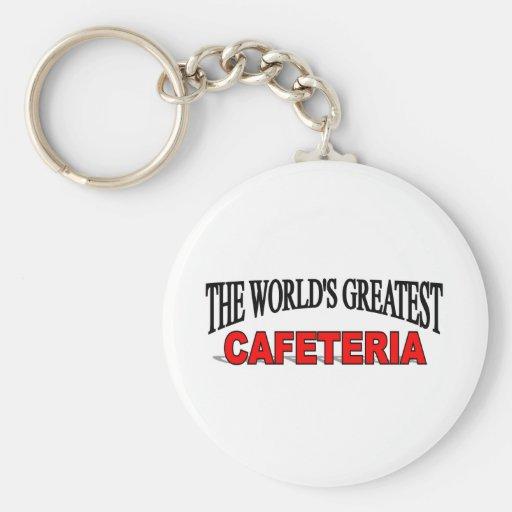 La cafetería más grande del mundo llavero redondo tipo chapa