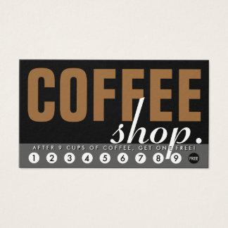la cafetería recompensa programa tarjeta de negocios