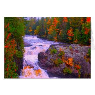 La caída colorea la cascada felicitaciones