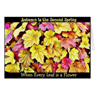 La caída de la cita del otoño deja la tarjeta
