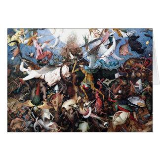 La caída de los ángeles rebeldes de Pieter Bruegel Tarjeta De Felicitación