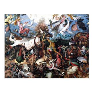 La caída de los ángeles rebeldes de Pieter Bruegel Tarjeta Postal