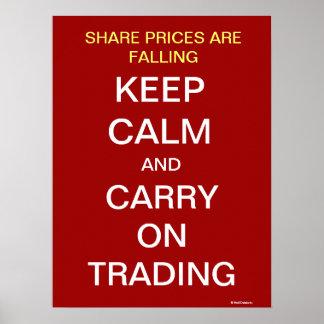 La caída de los precios de las acciones guarda al  póster