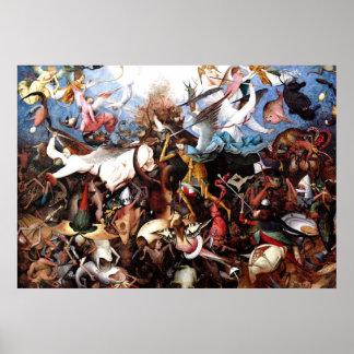 """La caída de Pieter Bruegel """"de los ángeles Póster"""