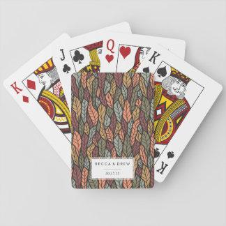 La caída deja favor del boda del modelo barajas de cartas