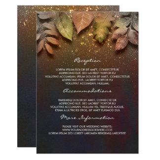 La caída deja la tarjeta de la huésped de la invitación 11,4 x 15,8 cm