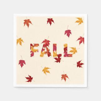 La caída deja las servilletas de papel