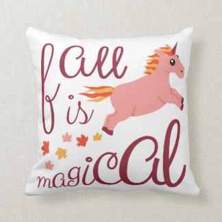 La caída es rosa mágico se ruboriza almohada de