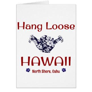La caída suelta Hawaii Tarjeta De Felicitación