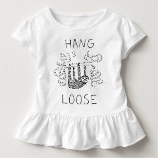 La caída suelta pereza camiseta de bebé