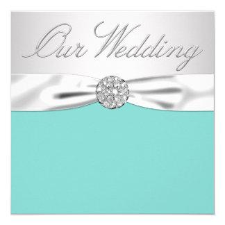 La caja azul inspiró la bodas de plata azul y del invitación 13,3 cm x 13,3cm