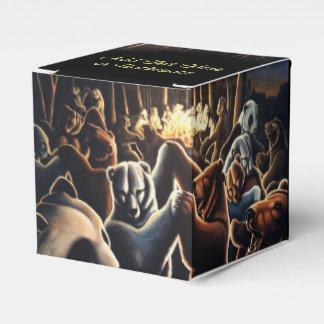 La caja de regalo del oso personaliza la caja de