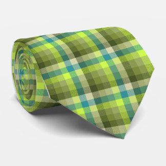 La cal loca de la tela escocesa del control corbatas