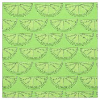 La cal verde de los agrios corta la tela