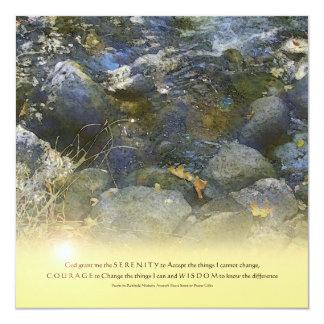 La cala del rezo de la serenidad oscila la invitación 13,3 cm x 13,3cm