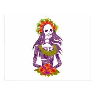 La Calavera Catrina/'cráneo elegante esquelético Postal