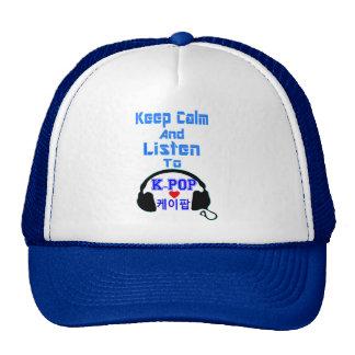 la calma del ♪♥Keep y escucha el camionero Hat♥♫ Gorras