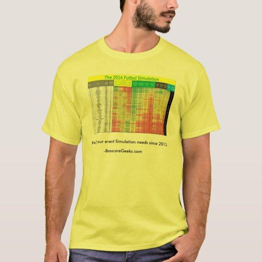 La camisa 2014 de la simulación de Futbol