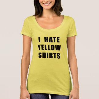 La camisa amarilla del camisetas amarillo de las