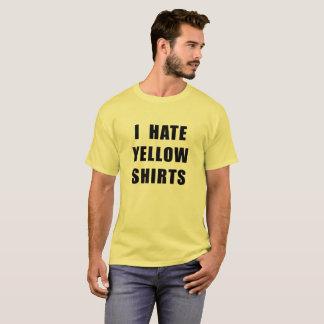 La camisa amarilla del camisetas amarillo de los