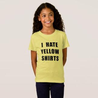 La camisa amarilla del camisetas amarillo del