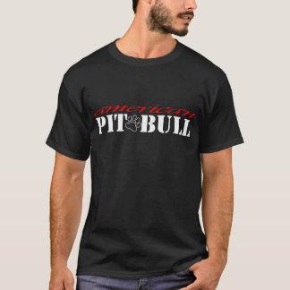 La camisa americana del pitbull de los hombres -