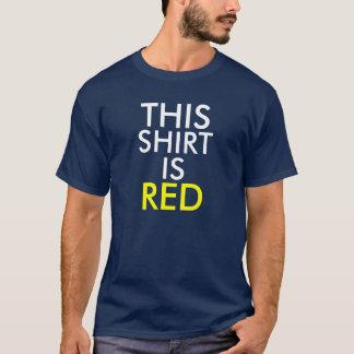 """La camisa azul de la prueba de Stroop """"esta camisa"""