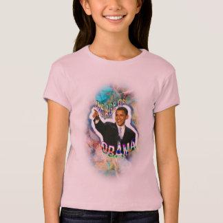 La camisa cabida del chica del acuario de Obama