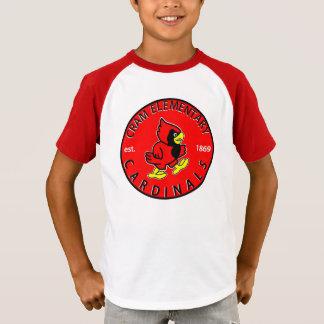 La camisa con mangas rayada de los niños