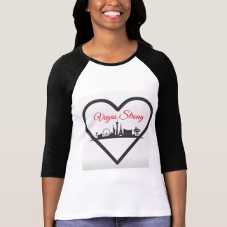 La camisa de 3/4 mujer del raglán de Vegas Stong