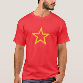 La camisa de los hombres comunistas de la estrella