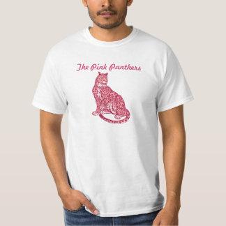 La camisa de los hombres rosados de la pantera