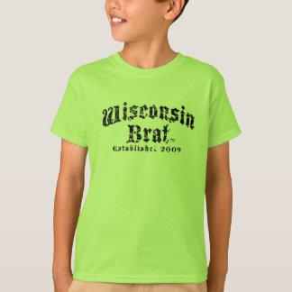 La camisa de manga corta de los niños del palo de
