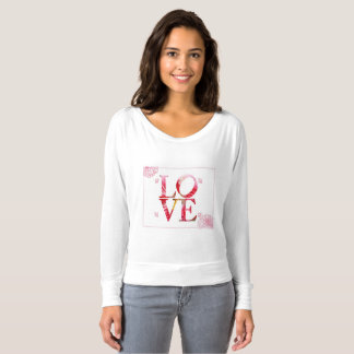 La camisa de manga larga de las mujeres del amor