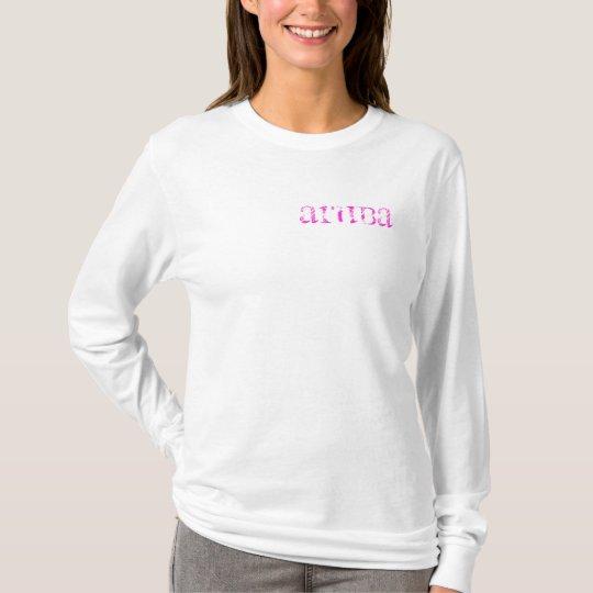 La camisa de manga larga de las mujeres del poste