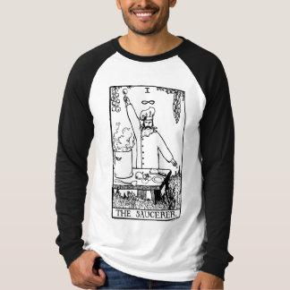La camisa de manga larga del béisbol de Saucerer