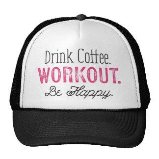 La camisa del entrenamiento para las mujeres café, gorras de camionero