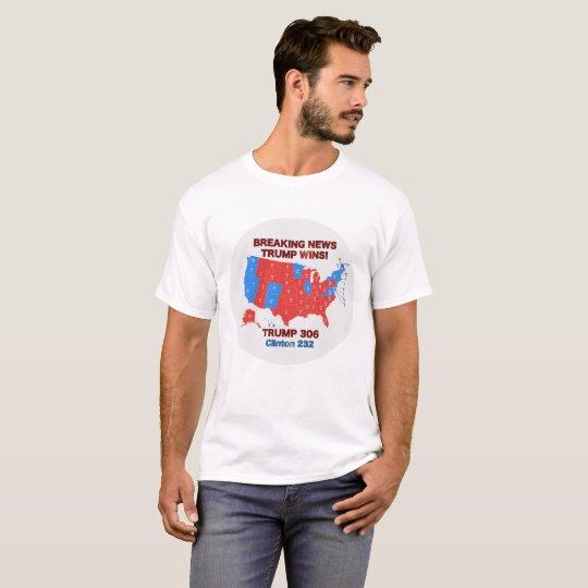 La camisa del hombre del mapa de la elección de