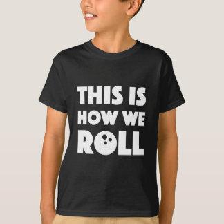 la camisa divertida del retruécano de los bolos