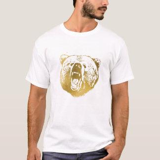 La camisa, el blanco y el oro de los hombres de camiseta