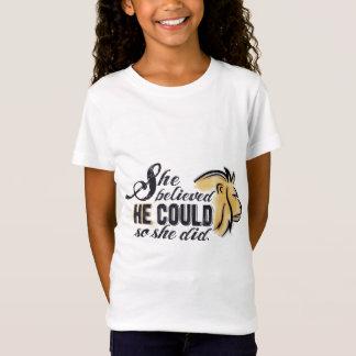 La camisa encouraging cristiana del niño - su