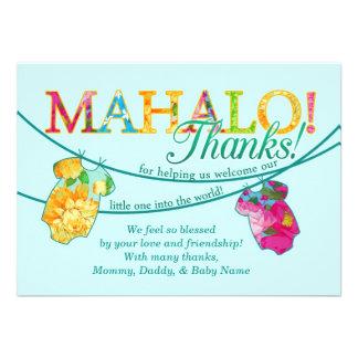 La camisa hawaiana Onsie Luau Mahalo le agradece c Anuncios Personalizados