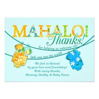 La camisa hawaiana Onsie Luau Mahalo le agradece c Comunicado Personal