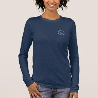 La camisa Largo-envuelta de las mujeres del diseño