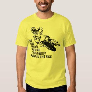 La camisa más lenta del motocrós de la bici de la