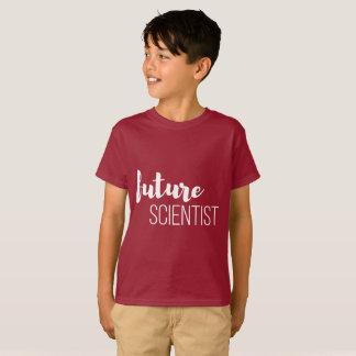 La camisa oscura del niño futuro del científico
