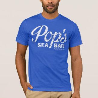 La camiseta azul áspera del estallido