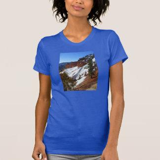 La camiseta azul de las mujeres de la cuesta